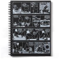 Libreta-Mumin-cómic-negra-A4