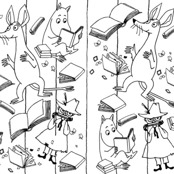 Los Mumin, un libro para colorear - Coco Books